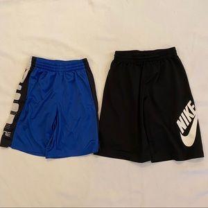 Lot of 2 Boys Shorts NIKE & ELITE Size Medium